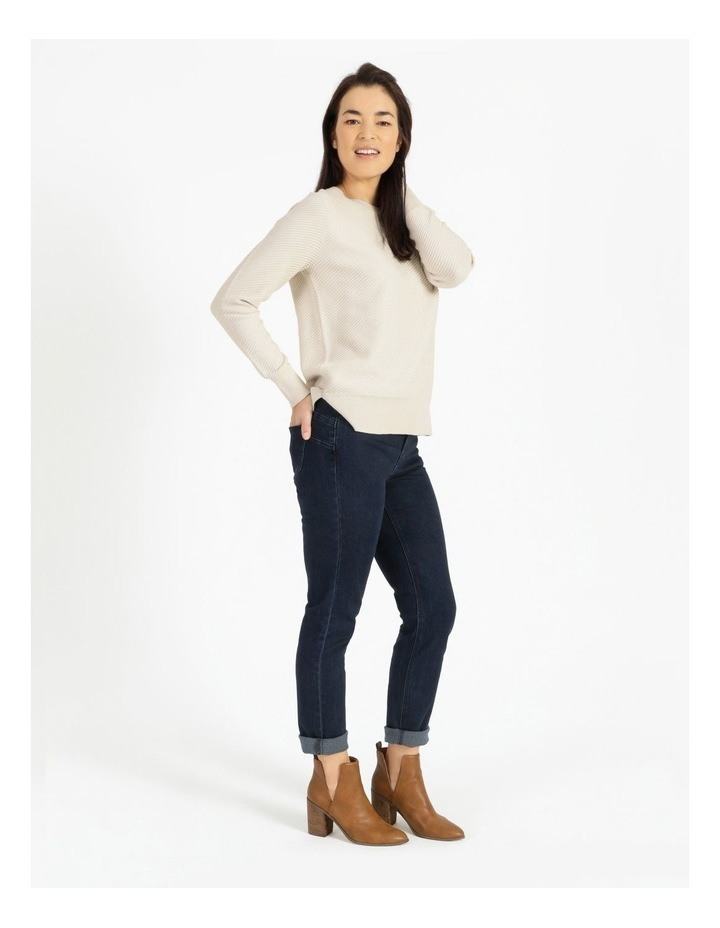 Diagonal With Side Spits Knit Jumper Neutral image 4