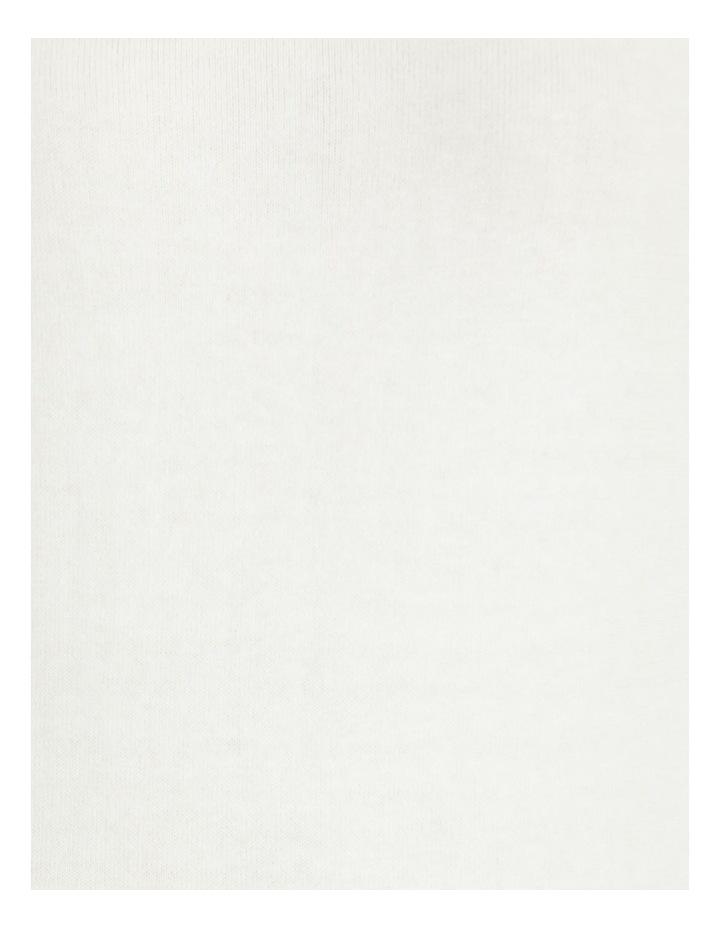 Fold Neck 3/4 Sleeves Jumper Ivory image 7