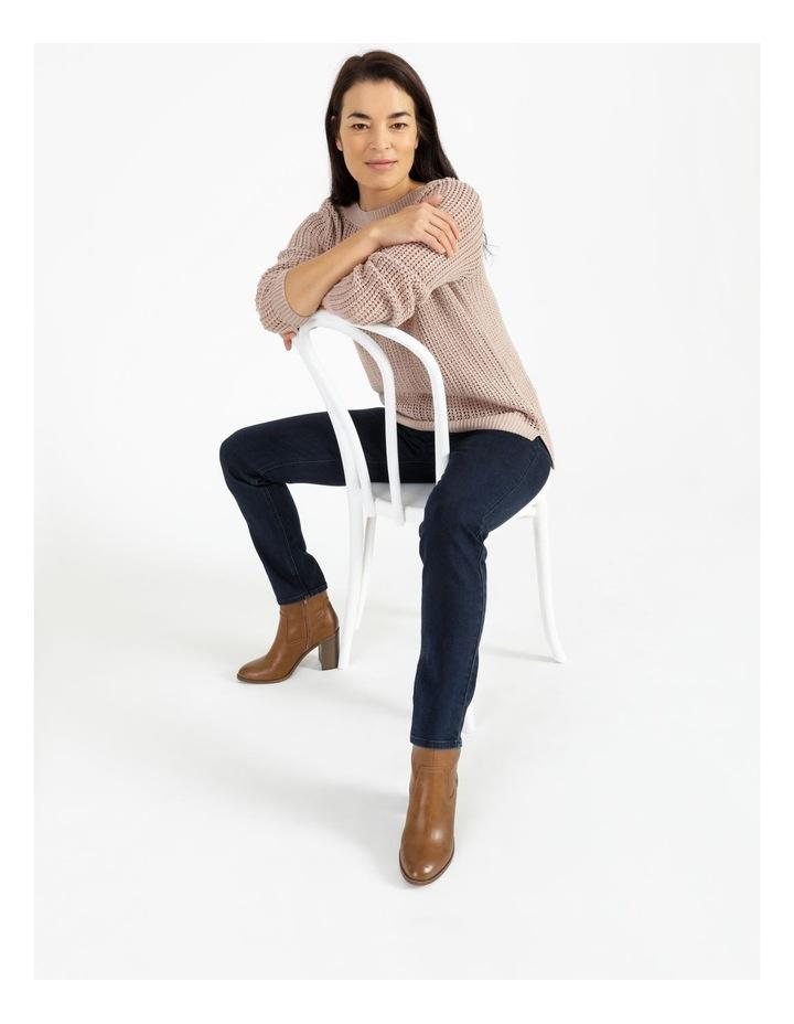 Boat Neck Fancy Knit Jumper With Lurex image 2