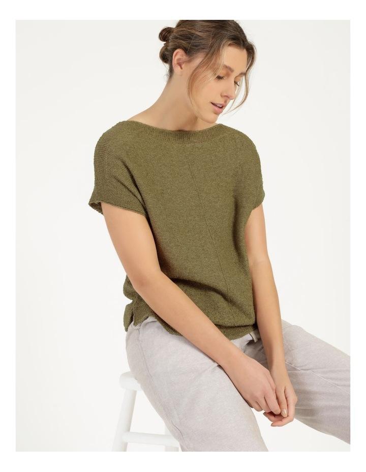 Extended Short Sleeve Jumper Mung Bean image 1