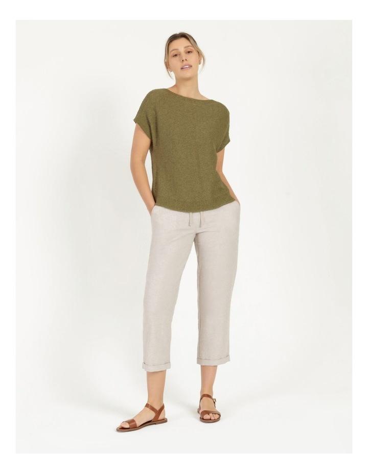 Extended Short Sleeve Jumper Mung Bean image 2
