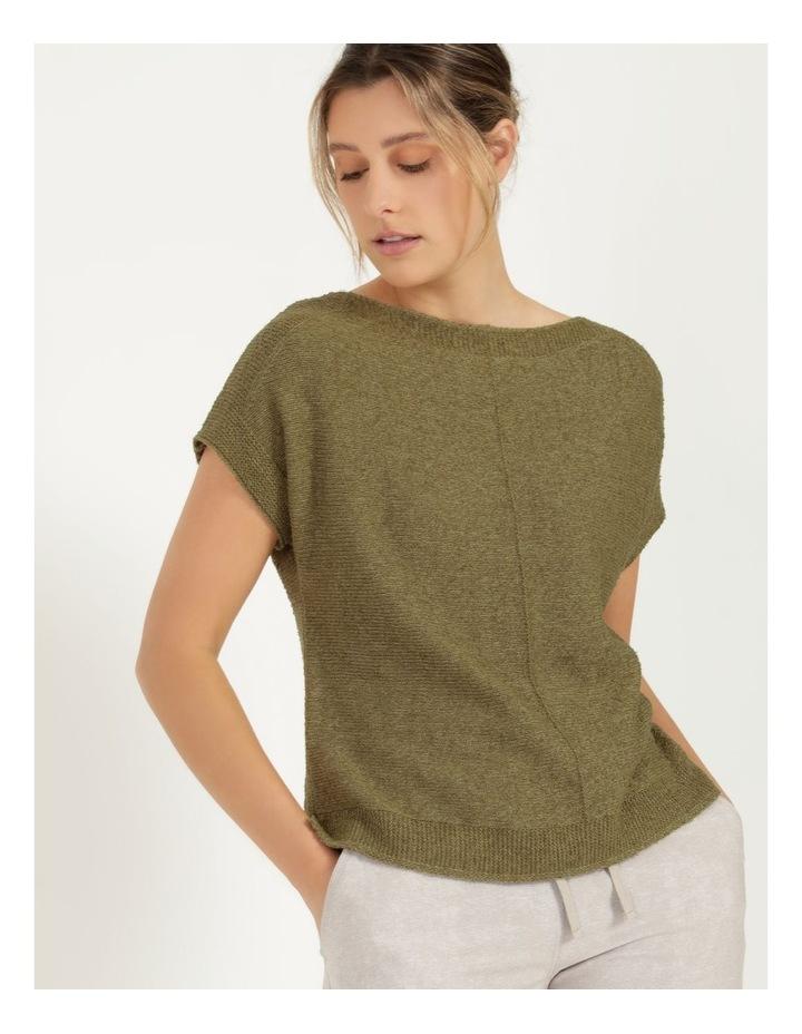 Extended Short Sleeve Jumper Mung Bean image 4