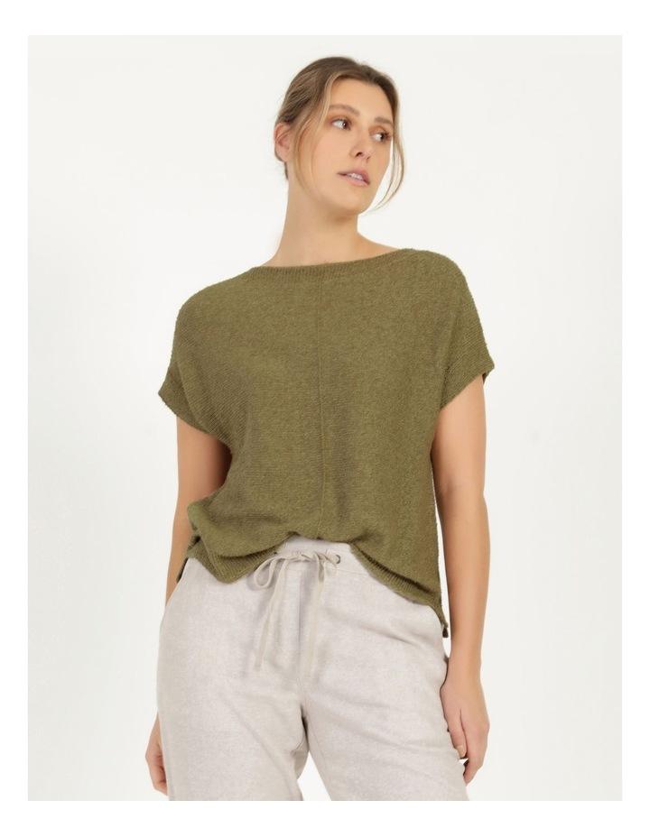 Extended Short Sleeve Jumper Mung Bean image 5