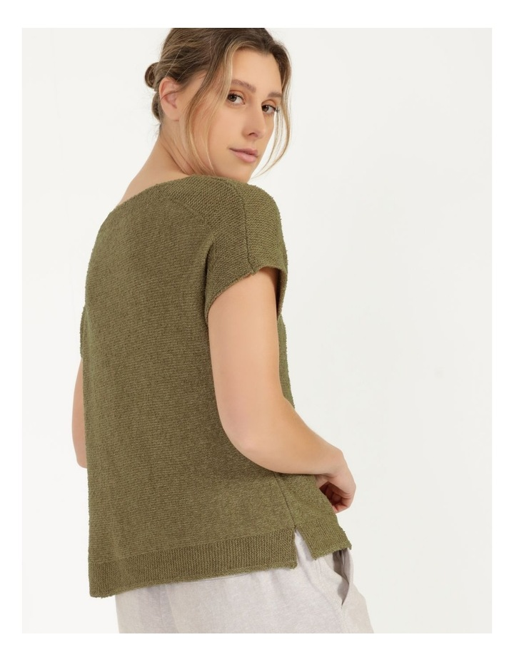 Extended Short Sleeve Jumper Mung Bean image 6