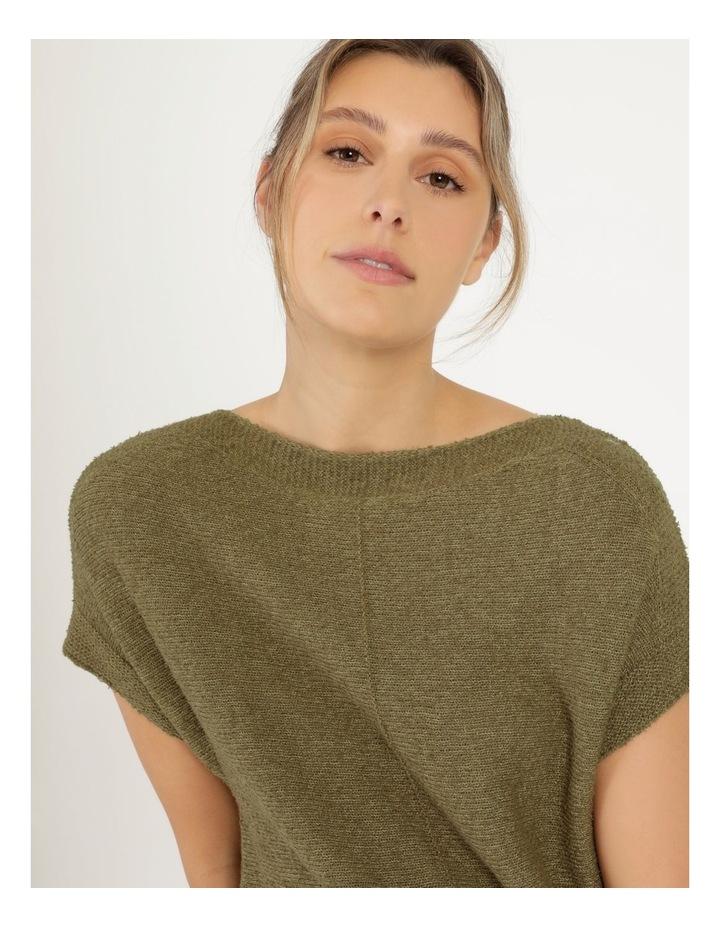 Extended Short Sleeve Jumper Mung Bean image 7