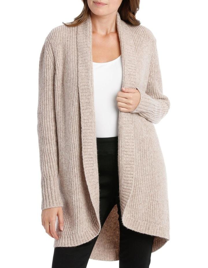Shawl Collar Long Sleeve Long Cardigan - Blush Marle image 1
