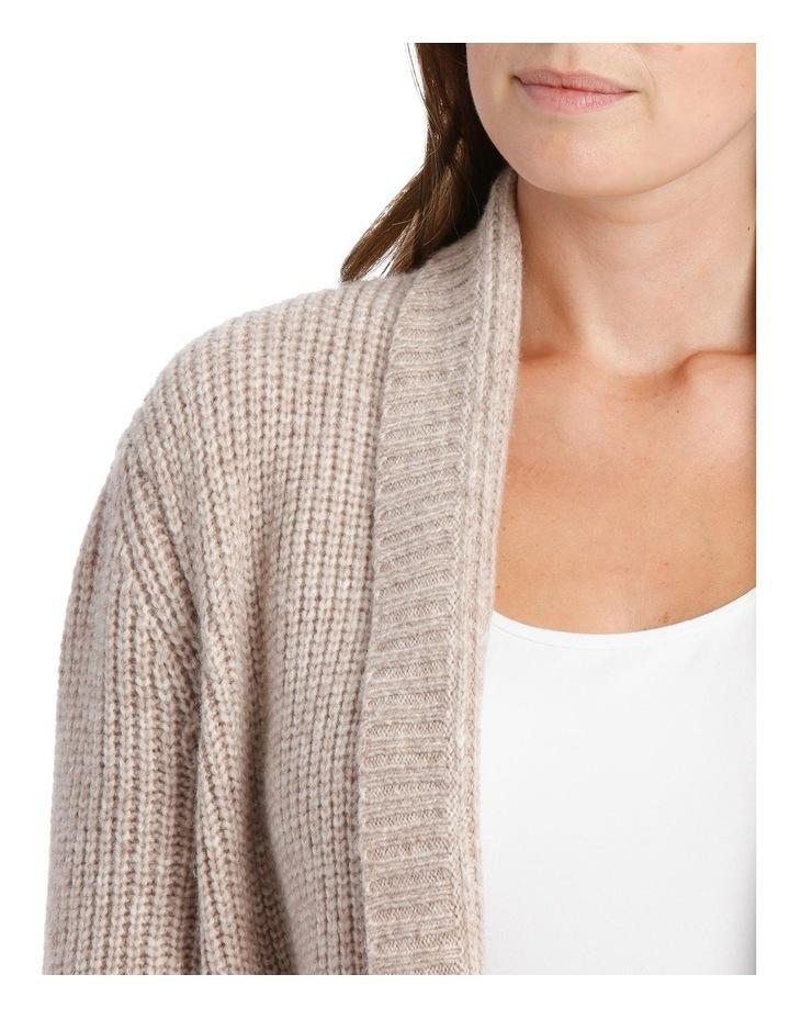 Shawl Collar Long Sleeve Long Cardigan - Blush Marle image 4