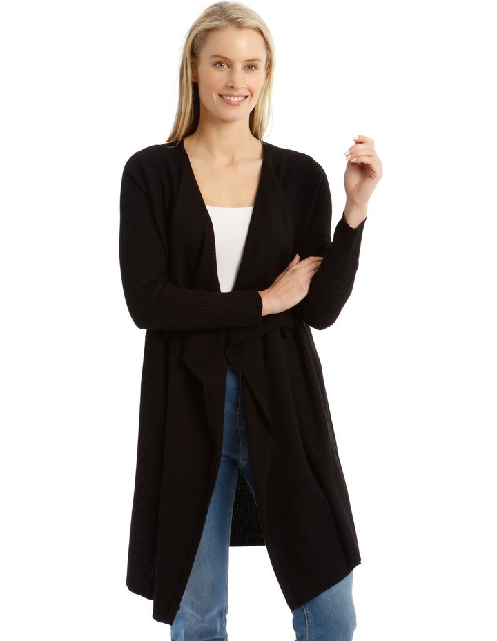 Ribbed Waterfall Front Cardigan image 1