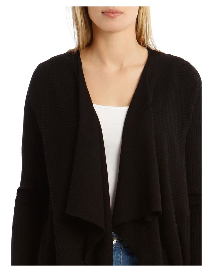 Ribbed Waterfall Front Cardigan image 4