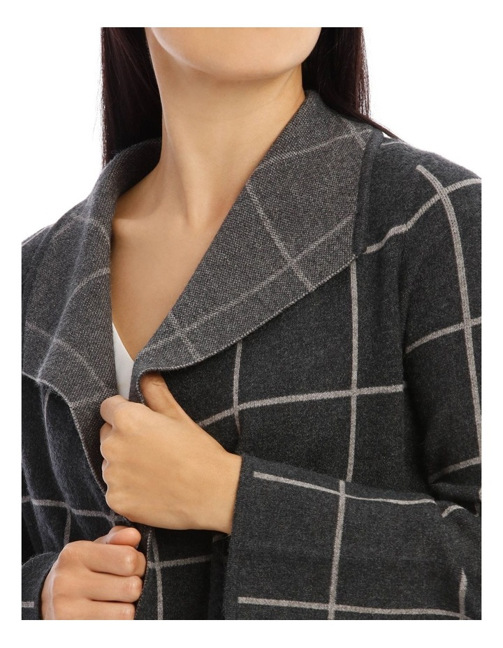 Edge To Edge Long Cardigan With Collar image 4