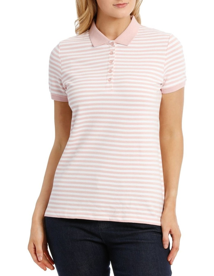 Must Have Polo Pink/White Stripe image 1