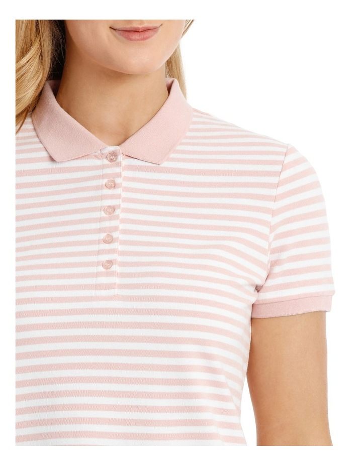 Must Have Polo Pink/White Stripe image 4
