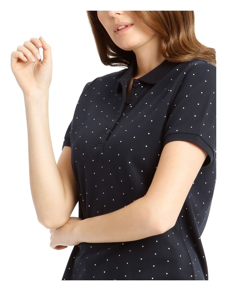 Short Sleeve Polo - Navy With White Spot image 4