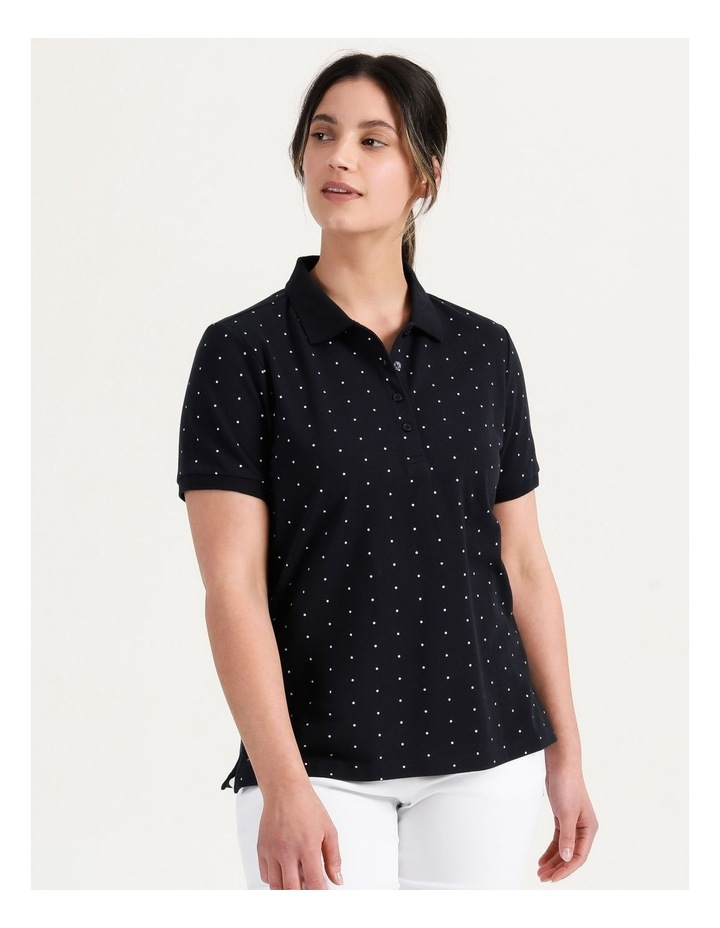 Core Short Sleeve Polo Navy/White Spot image 1