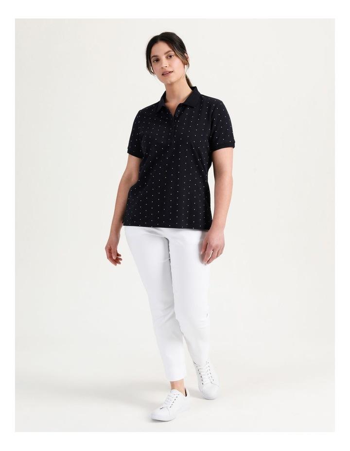 Core Short Sleeve Polo Navy/White Spot image 2