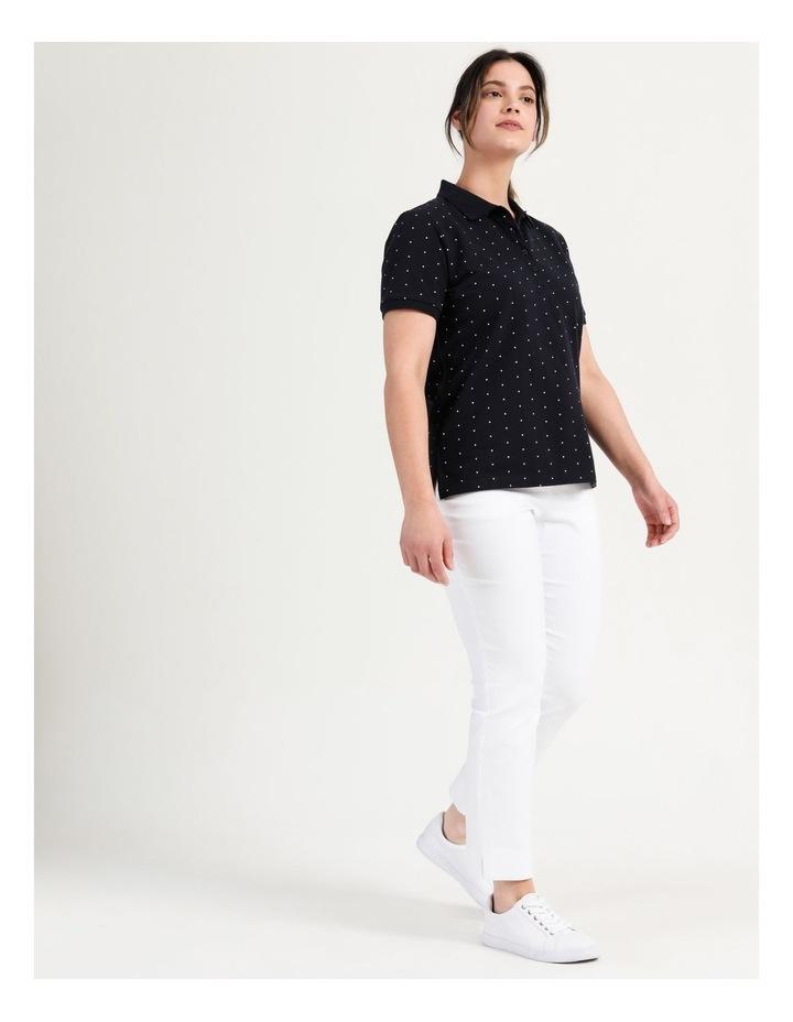 Core Short Sleeve Polo Navy/White Spot image 4