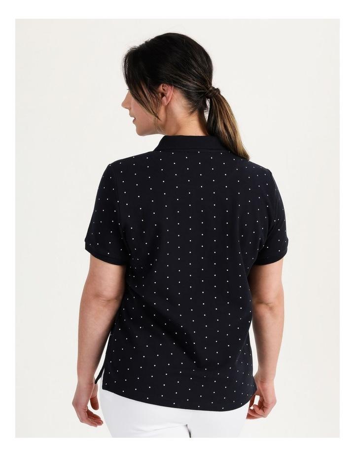 Core Short Sleeve Polo Navy/White Spot image 6