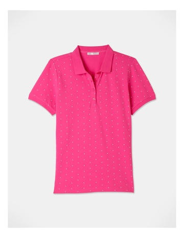 Hot Pink/White Spot colour