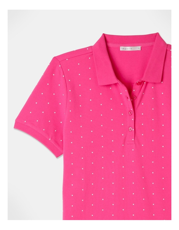 Core Short Sleeve Polo Hot Pink/White Spot image 2