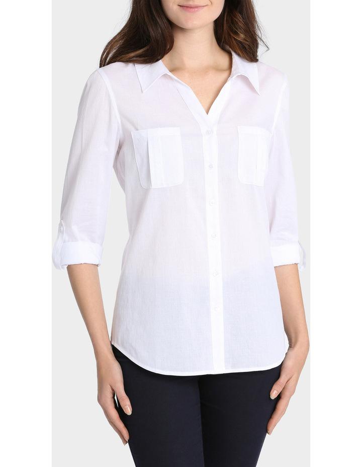 Basic Cotton 3/4 Sleeve Shirt image 1