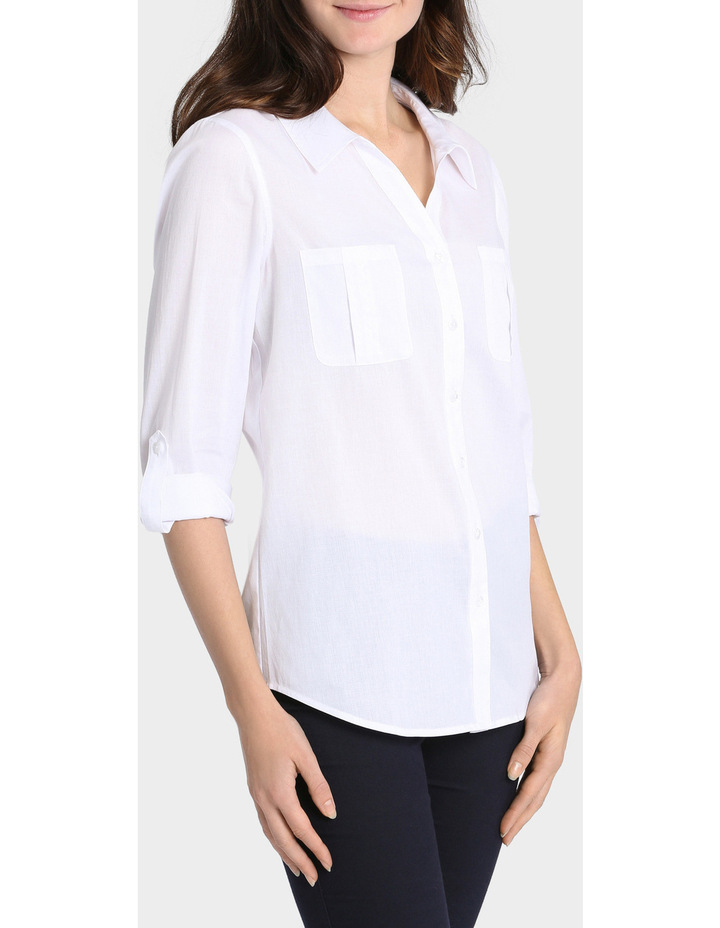 Basic Cotton 3/4 Sleeve Shirt image 2