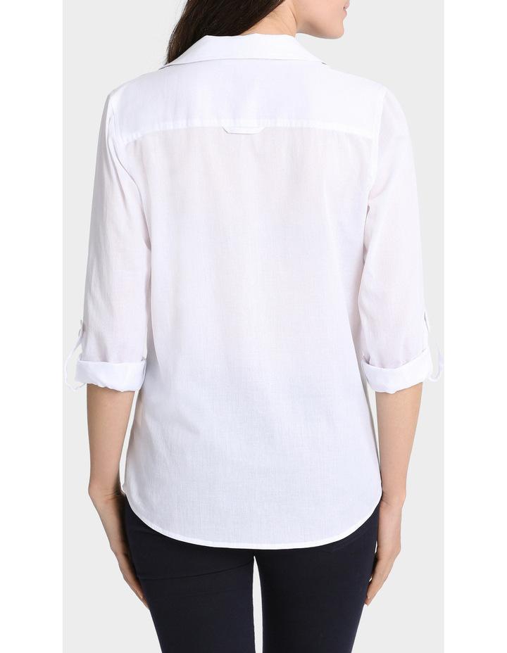 Basic Cotton 3/4 Sleeve Shirt image 3