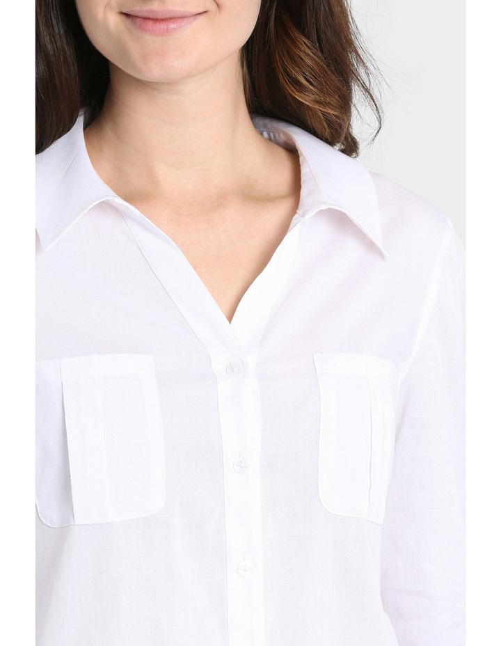 Basic Cotton 3/4 Sleeve Shirt image 4