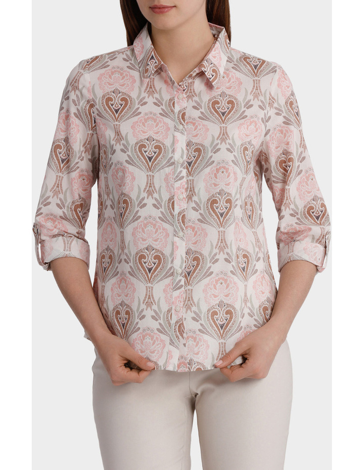 Must Have Printed Cotton 3/4 Sleeve Shirt image 1