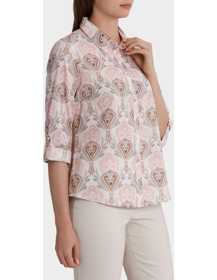 Must Have Printed Cotton 3/4 Sleeve Shirt image 2