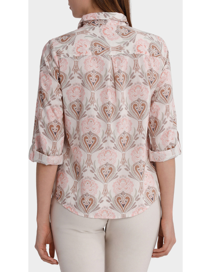 Must Have Printed Cotton 3/4 Sleeve Shirt image 3