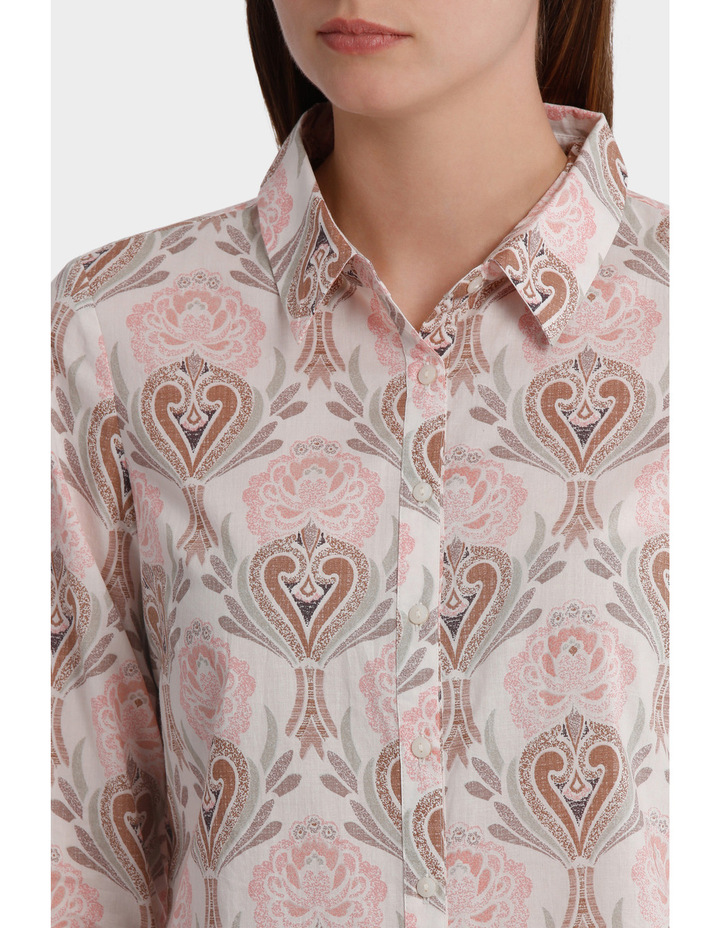 Must Have Printed Cotton 3/4 Sleeve Shirt image 4