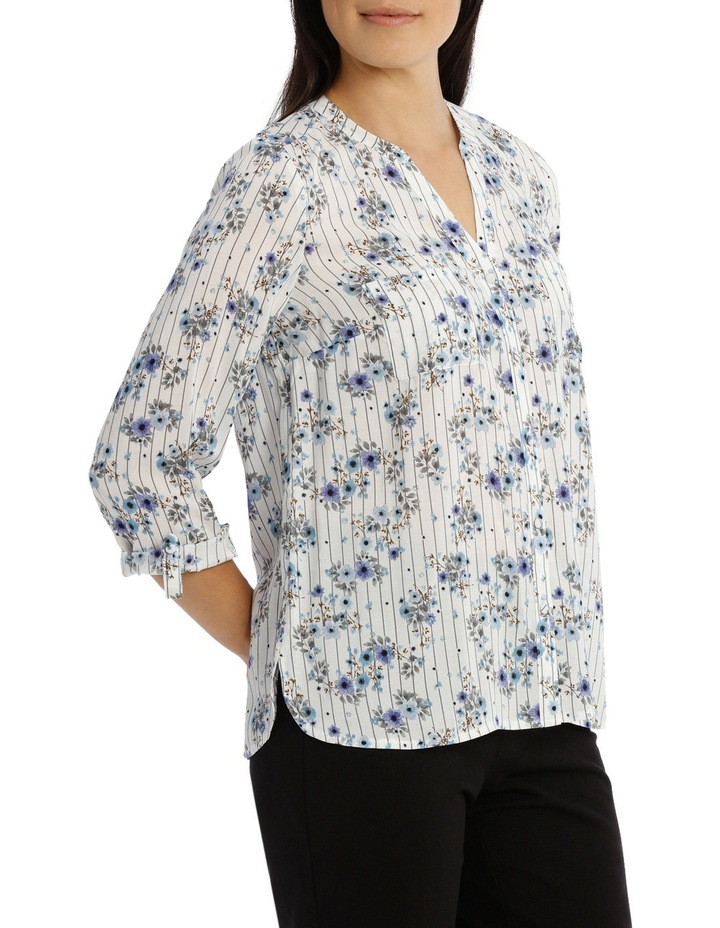 Floral Stripe 3/4 Sleeve Shirt image 2