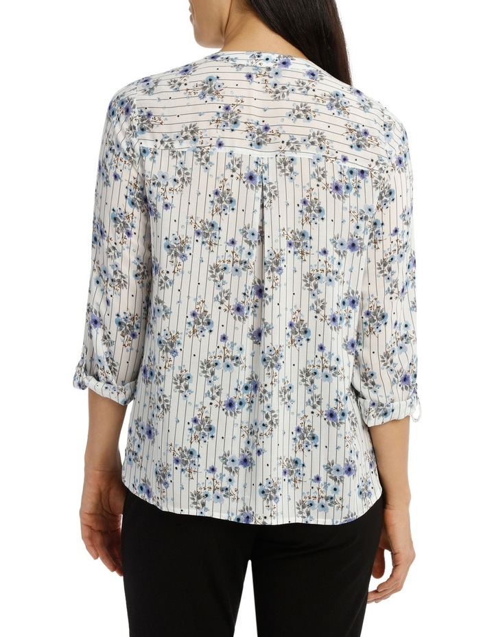 Floral Stripe 3/4 Sleeve Shirt image 3