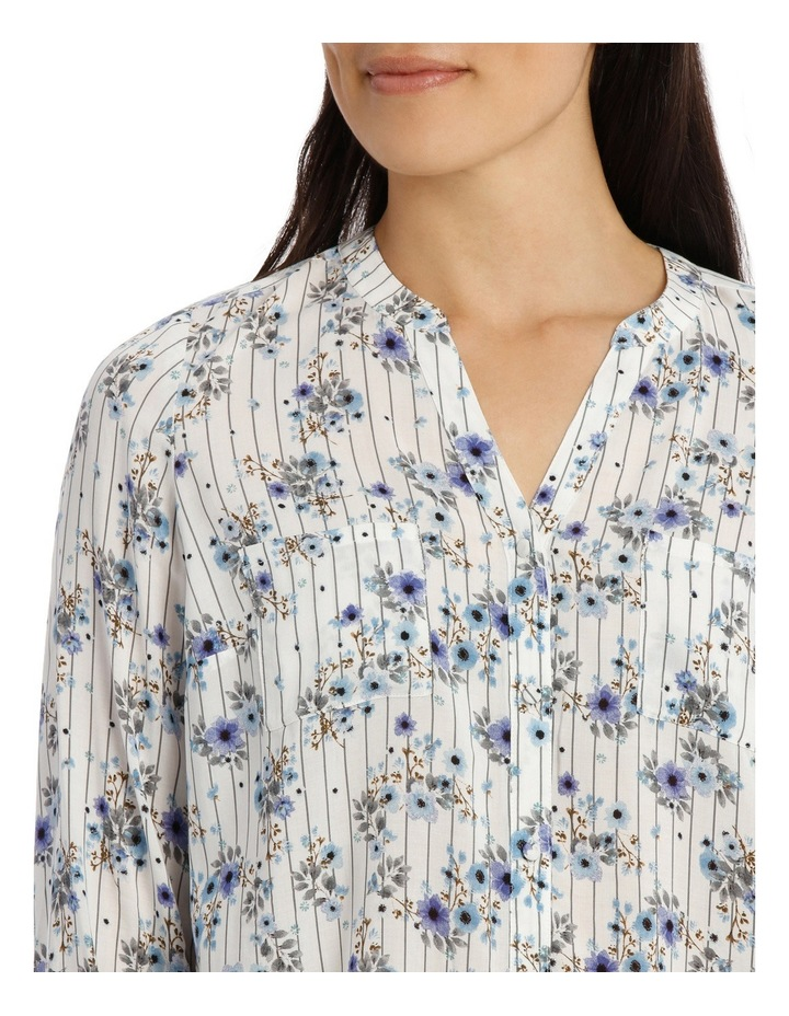 Floral Stripe 3/4 Sleeve Shirt image 4