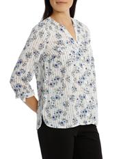 Regatta Petites - Floral Stripe 3/4 Sleeve Shirt