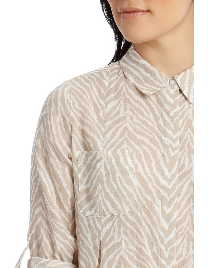 Front Tuck Long Sleeve Shirt With Rolled Sleeve image 4