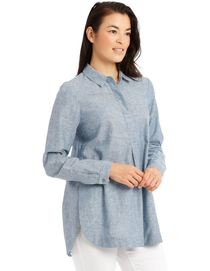 Long Sleeve Shirt With 1/2 Placket image 2