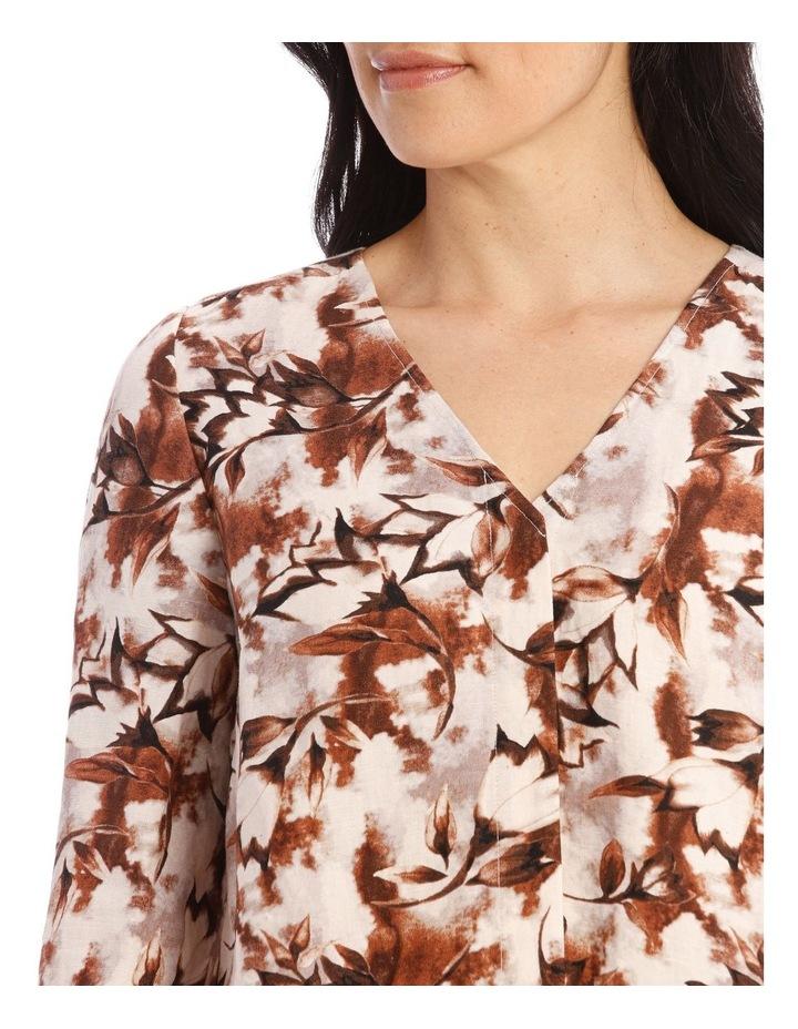 Collarless V-Neck Long Sleeve Shirt image 4