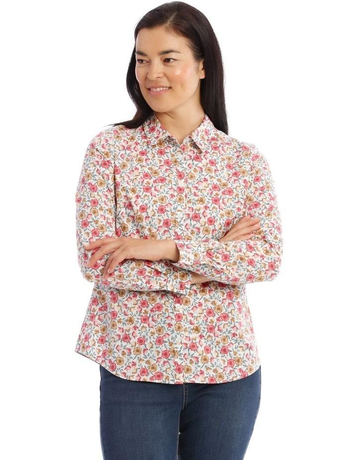 Stretch Cotton Long Sleeve Shirt image 1
