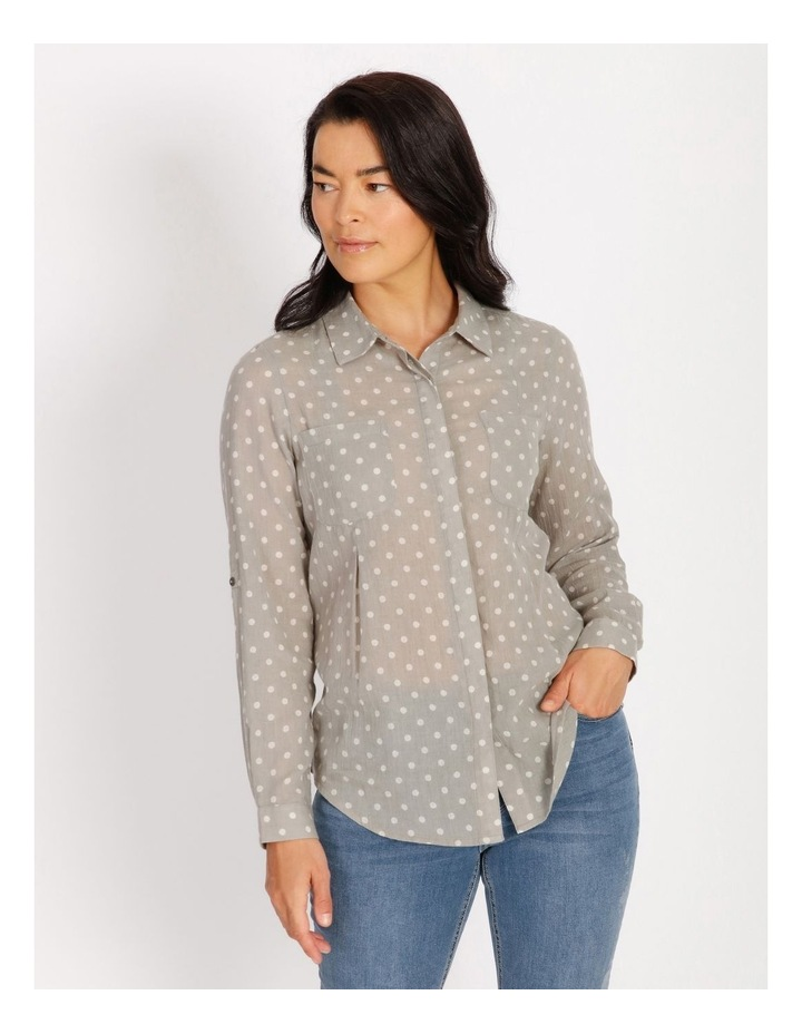 Rolled Long Shirt With Front Tucks image 1