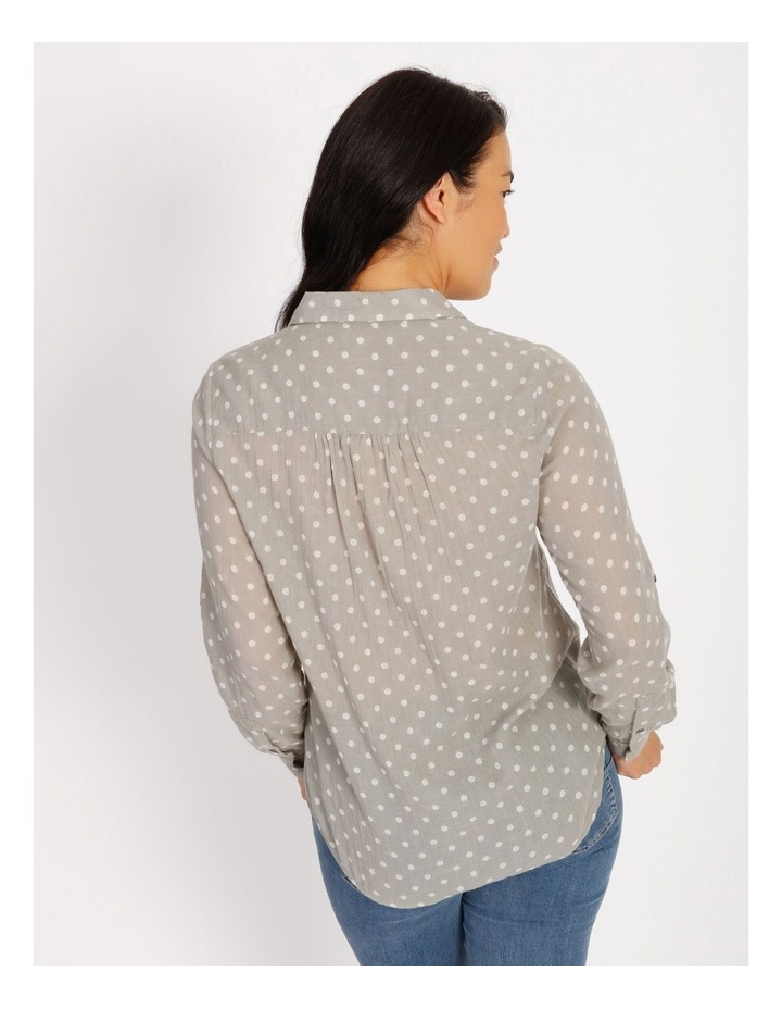 Rolled Long Shirt With Front Tucks image 3