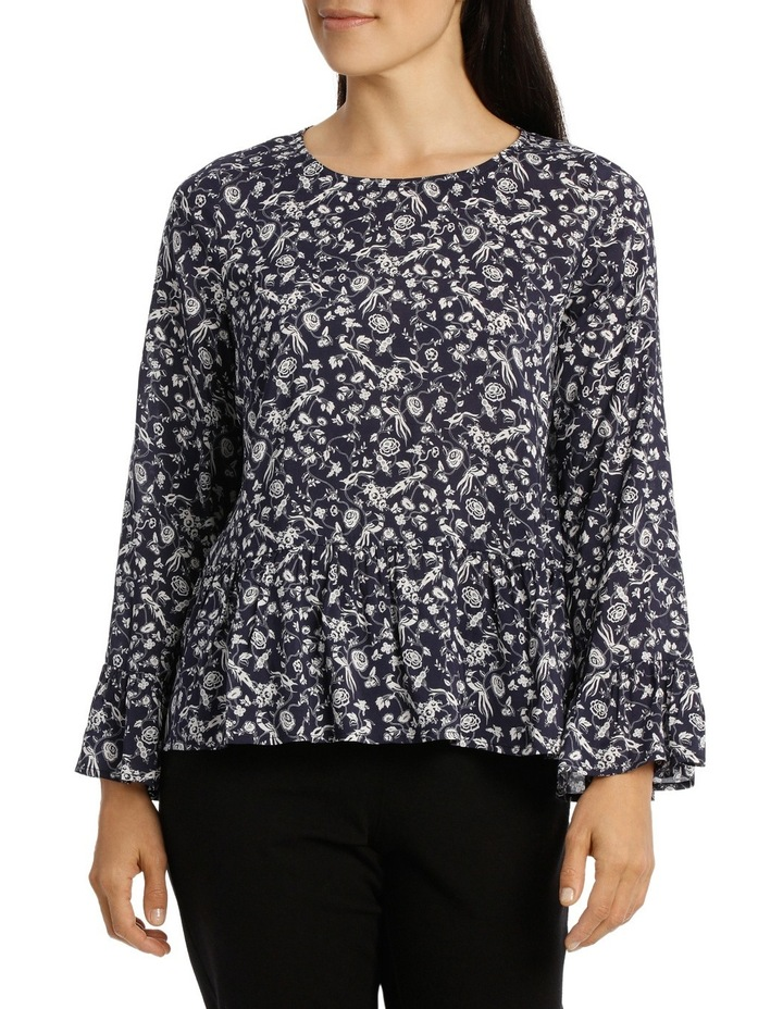 Ditsy Floral Bell Sleeve Top image 1
