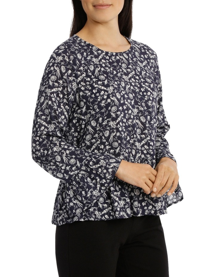 Ditsy Floral Bell Sleeve Top image 2