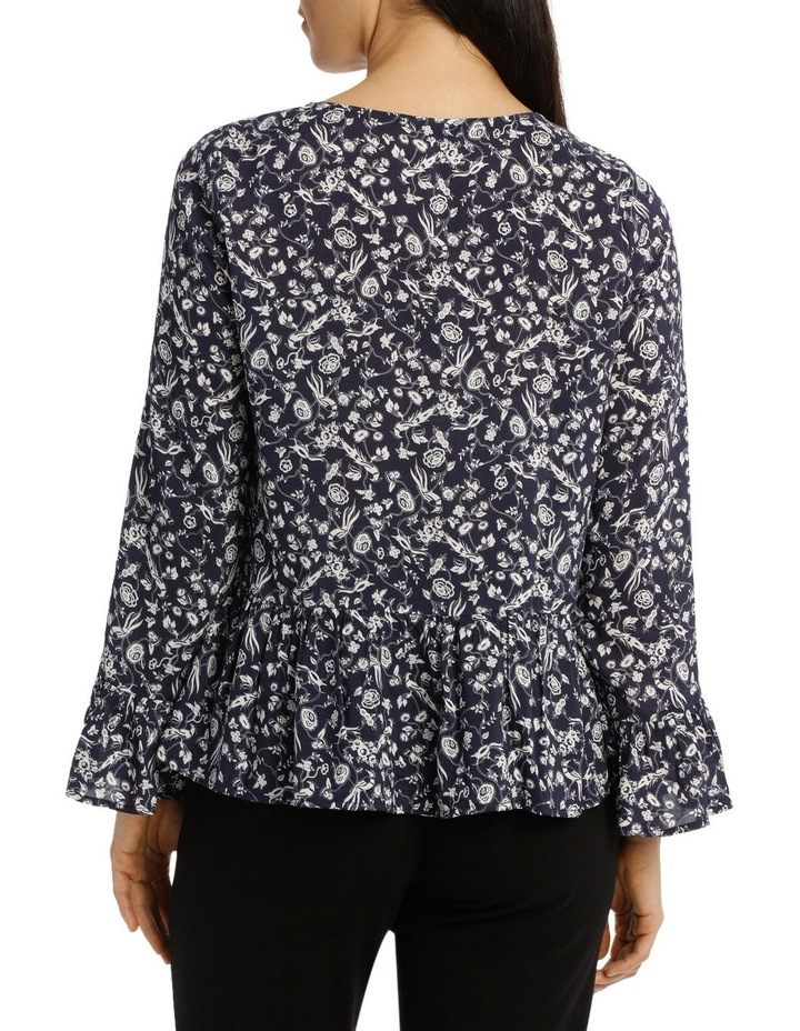 Ditsy Floral Bell Sleeve Top image 3