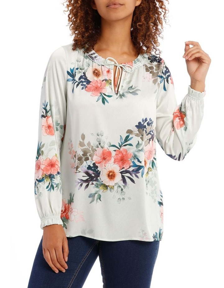Frill Neck Long Sleeve Top image 1