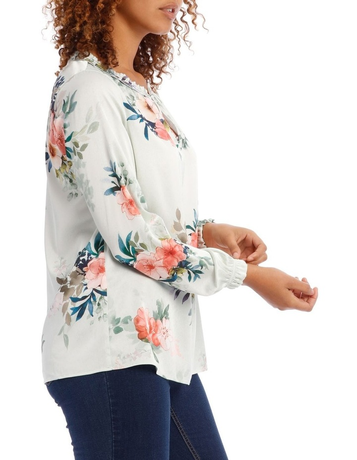 Frill Neck Long Sleeve Top image 2