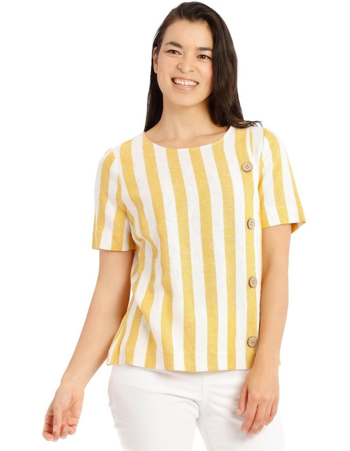 Side Button Short Sleeve Shell Top image 1