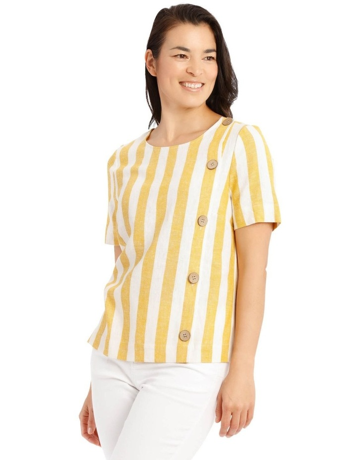 Side Button Short Sleeve Shell Top image 2