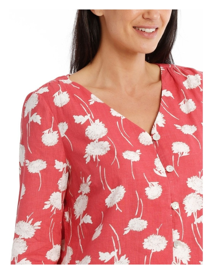 Vneck Button Front 3/4 Sleeve Top image 4