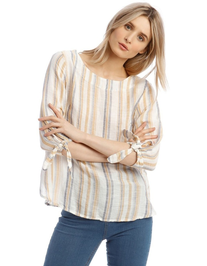 3/4 Curved Hem Woven Top image 1